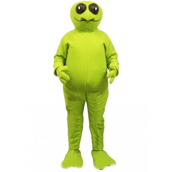 Green Long Legs Alien Mascot Costume