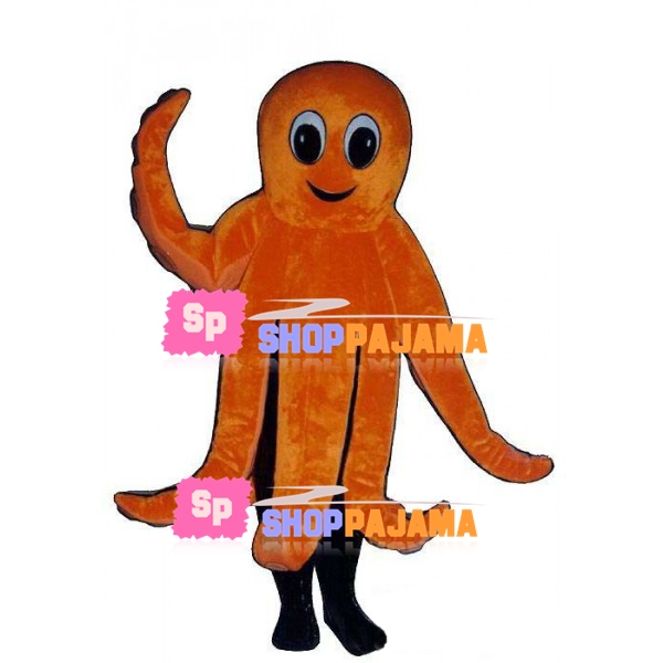 Lively Orange Octopus Mascot Costume