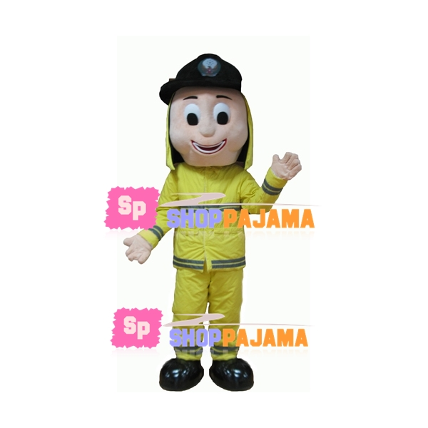 Great Firefighter On Duty Mascot Costume