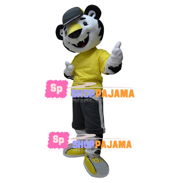 Delightful Tiger In The Sports Outfit Mascot Costume