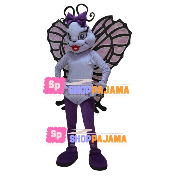 Exquisite The Sexy Violet Butterfly Mascot Costume