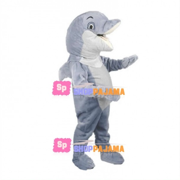 Lovely Grey Dolphin Mascot Costume
