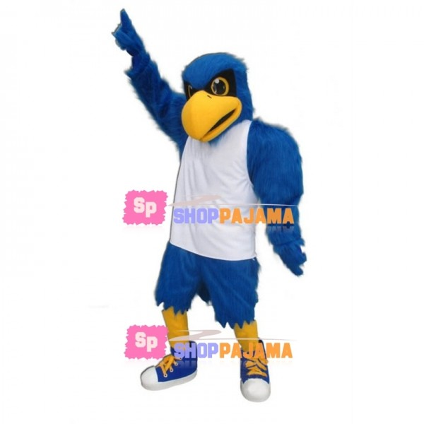 University Blue Falcon Mascot Costume