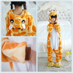 Unisex Kids Giraffe Onesie Animal Pajamas Children Kigurumi Sleepwear