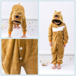 Anime Boonie Bears Bear Two Kids Onesie Children Kigurumi Sleepwear
