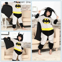 Kids Super Hero Batman Onesies Pajamas Kigurumi Halloween Costume