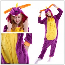 Unisex Adults New Spyro Dragon Onesie Cute Pajamas Anime Cosplay Pyjamas