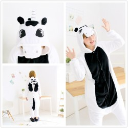 Anime Unisex Adult Middle Black Unicorn Kigurumi Onesie