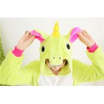 Green White Unicorn Adult Onesies Unisex Kigurumi Pajamas