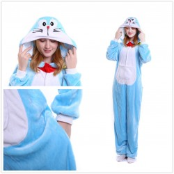 Cute Cartoon Doraemon Adults Flannel Onesie Pajamas Kigurumi Costume