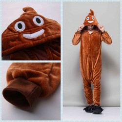 Kigurumi Feces Shit Stool Onesie Pajamas Cosplay Costume