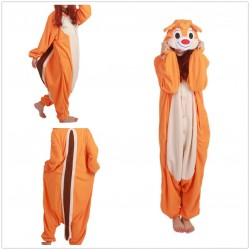 Animal Orange Chipmunk Squirrel Pajamas Chippy Onesie Costume