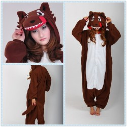 One Piece Biggest Baddest Coffee Wolf Adult Onesie Kigurumi Pajama