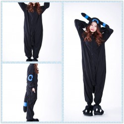 Pokemon Umbreon Eevee Blue Black Kigurumi Onesie Hoodie Pajamas