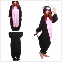 Adult Animal Lovely Black Pig Onesie Unisex Pajamas