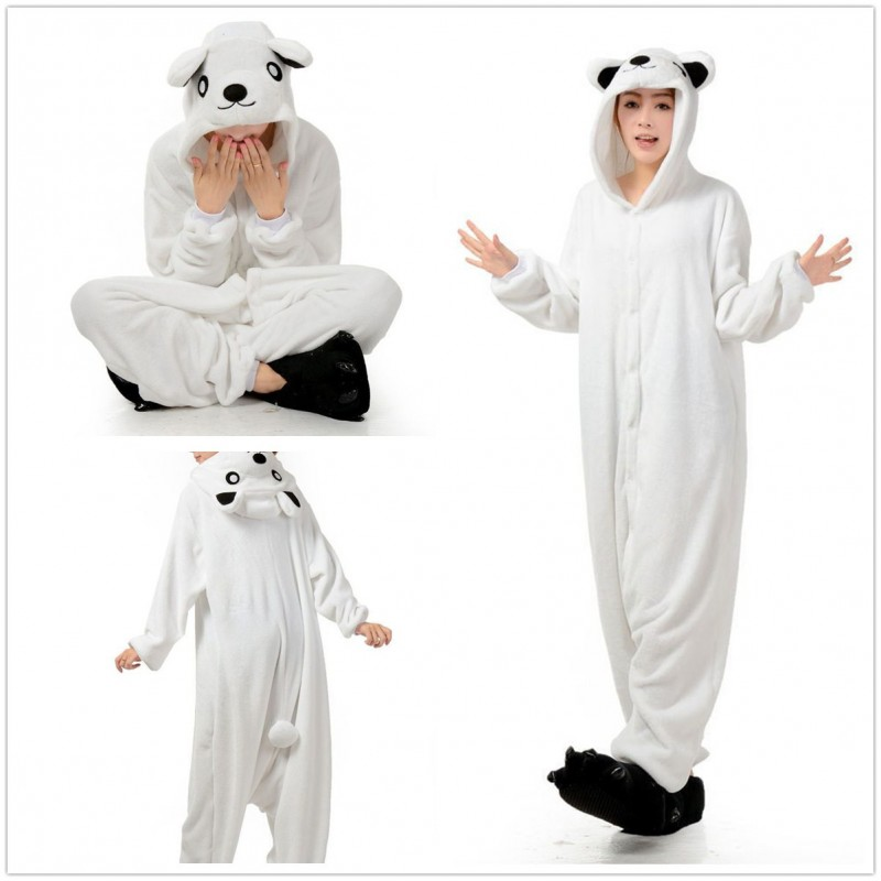 acf419213abd Polar Bear Onesie Unisex Animal Kigurumi Pajamas for Adults