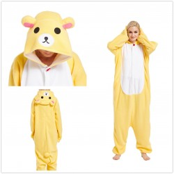 Cute Yellow Rilakkuma Bear Kigurumi Onesies Cosplay Costumes