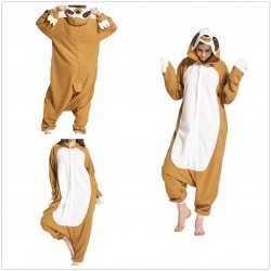 Unisex Adult Sloth Pajamas Sleepsuit Onesie Sleepwear Pyjamas