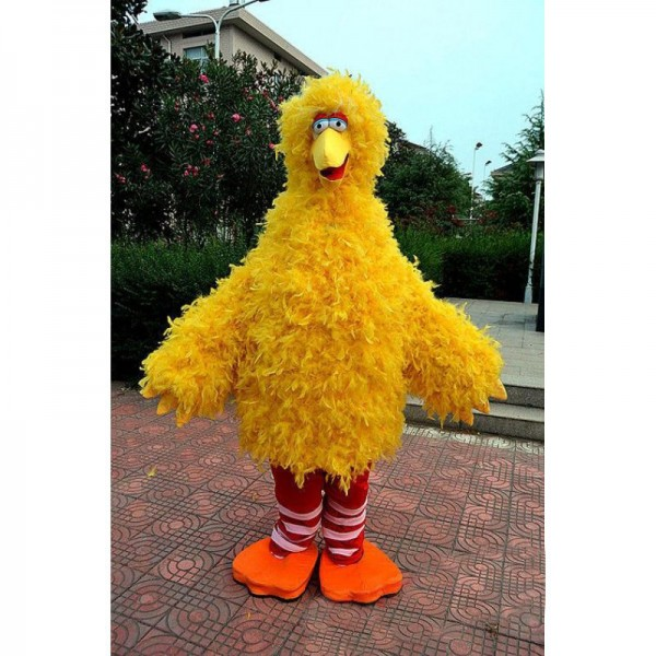 Yellow Big Bird Sesame Street Mascot Costume