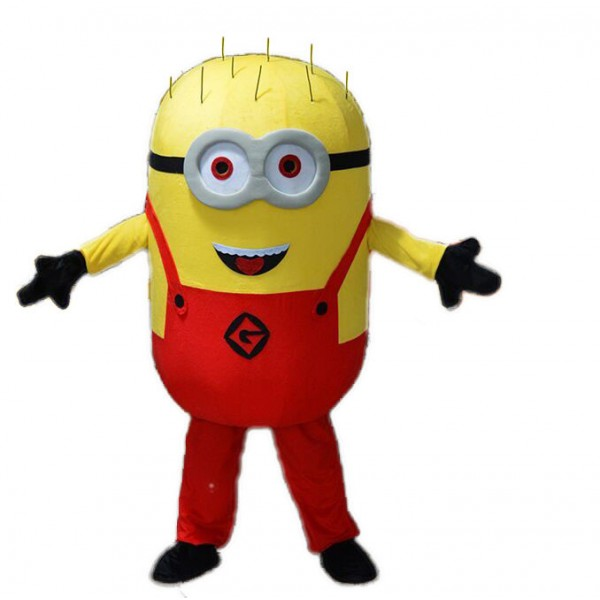 Friendly Lightweight Red Despicable Me Minion Mascot Costume