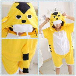 Animal Unisex Adult Summer Yellow Tiger Kigurumi Onesie Pajamas