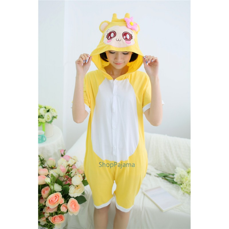 c9333a974 Anime Adult Summer Yellow Monkey CiCi Kigurumi Onesie Pajamas
