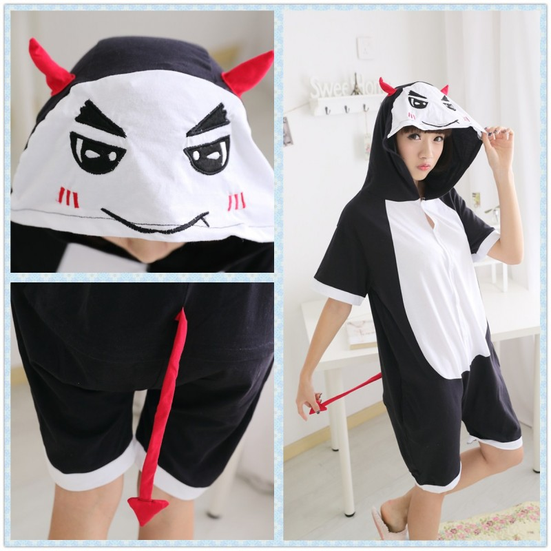 Anime Unisex Adult Summer Demon Kigurumi Onesie Pajamas